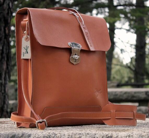 Leather messenger bag for men - Man briefcase - Laptop bag - Man bag , handmade man briefcase - Natural Leather Shoulder Bag
