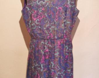 1960s Blanes of London Paisley dress