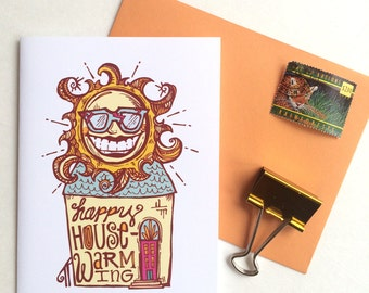 Sun Housewarming Greeting Card