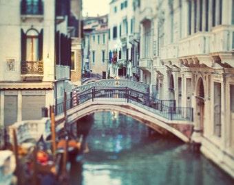 Venice Italy Wall Art, Venice Print, Travel Photography, Venice Canal Photo, Europe, Italian Wall Decor - Blue Venice