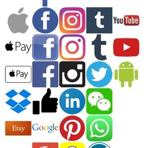 Social media icons & logo SVG files - 32 in total!