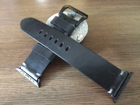 Apple Watch Band, Leather Watch Band, Apple Watch 42mm, iwatch band, Apple Watch Strap, Black Leather, Apple Watch 38mm, FREE SHIPPING