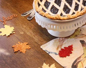 Thanksgiving table confetti, fall table confetti, thanksgiving table decor