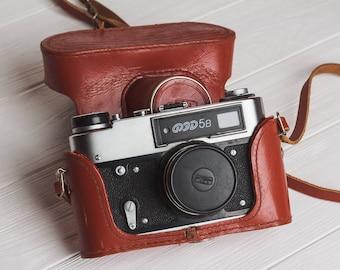 Fed 5 camera Rangefinder film camera Lens Industar 61l/D, f2.8/55mm lens M39 Gift for him 35mm Soviet vintage camera