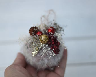 Christmas Ornaments,Unique Christmas Ornament, Crochet Mohair Ornaments, Primitive crochet ornaments
