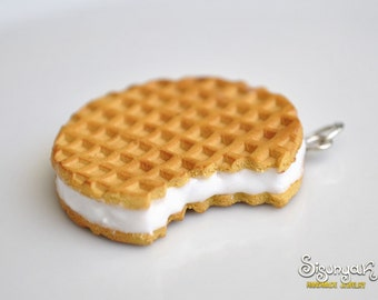 Waffle Cookie Pendant - Gifts for her