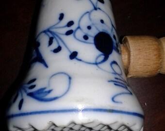 Porselain mallet meat tenderizer in Blue Onion pattern in style of Meissen