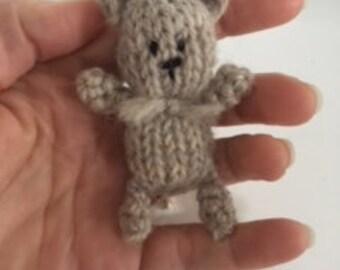 Knitting/crochet PATTERN - Newborn size knit Tear drop tiny bear - Instant Download PDF - Photography Prop for newborn size tiny bear