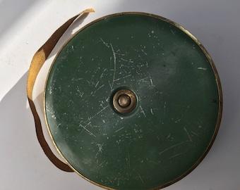 Antique 100ft  Brass Measuring Tape Tools Ruler