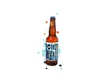 Brewdog Punk IPA  craft beer A3 print christmas gift for him