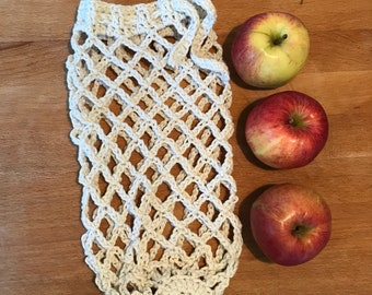 Reusable produce bag, Crochet bag, fruit and vegetable bag, environmentally friendly, shopping bag, made to order, plastic free bag,