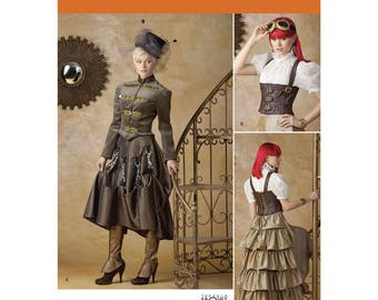 """STEAMPUNK Cosplay Costume Pattern by Simplicity 1558  * Misses"""" Size 6-12"""