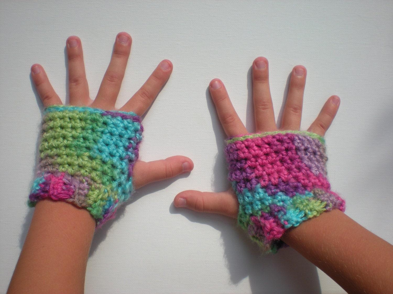 PATTERN: Kid Gloves, fingerless, easy crochet PDF InStaNT DowNLoaD ...
