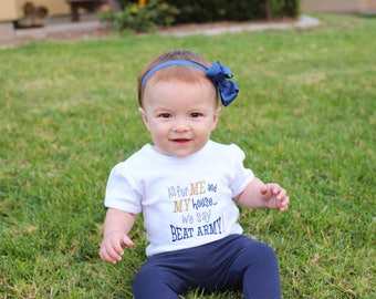 Go Army Beat Navy Onesie - USNA Baby Outfit - US Navy Outfit  - Go Navy Baby Bodysuit  - Military Baby - Go Navy - Navy Mom Gift