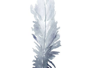 No Matter of Miles Feather - Watercolor Print Digital Download