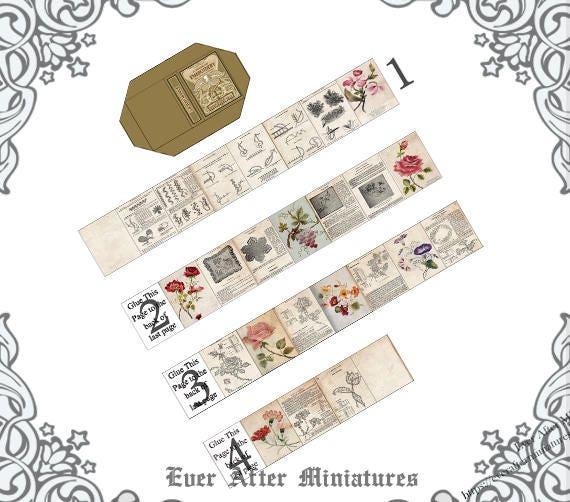 EMBROIDERY Dollhouse Miniature Book –1:12 DIY Miniature