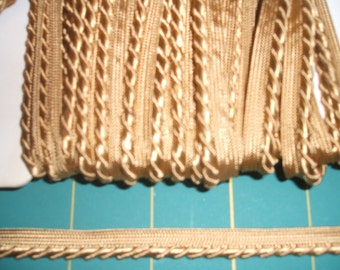 Gold Gimp Upholstery Insertion Braid x one metre