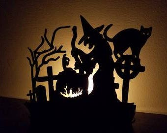 Halloween tea light holder