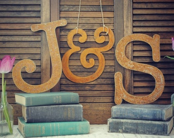 Letter Set || 18 inch || Wedding Letters || Wedding Sign || Graduation Sign || Black || Rusty || Galvanized ||