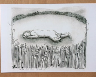 Print 'You can't see me because I'm dreaming' pencil print
