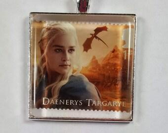 Game of Thrones  Daenerys Targaryen Dragons  Emilia Clarke HBO GOT George R R Martin  UK Genuine Postage Stamp