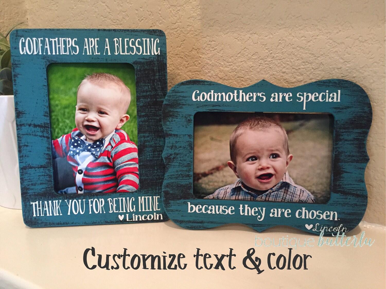 Godparent frame gift set of 2 frames for godmother godfather ...