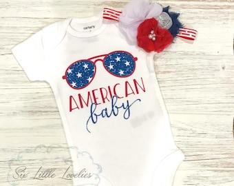 American Baby Onesie/4th of July Onesie/Baby Girl/Baby Boy/Patriotic Bodysuit