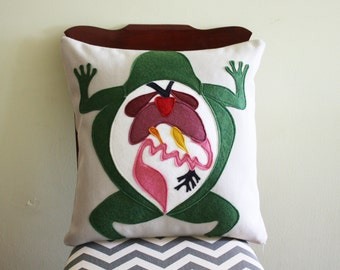 Science Diagram Pillow - Frog Dissection // Scientist // Biology // Biologist // Medical Student // Teacher Gift // Anatomy