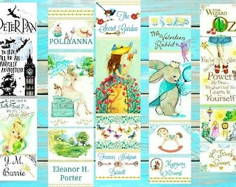 Watercolor Children's Classics bookmarks