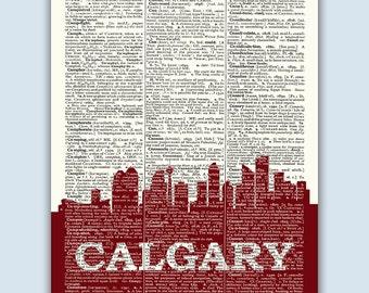 Calgary Skyline, Calgary Poster, Calgary Decor, Calgary Print, Calgary Wall Art, Calgary Gift, Calgary Wall Decor, Calgary Canada
