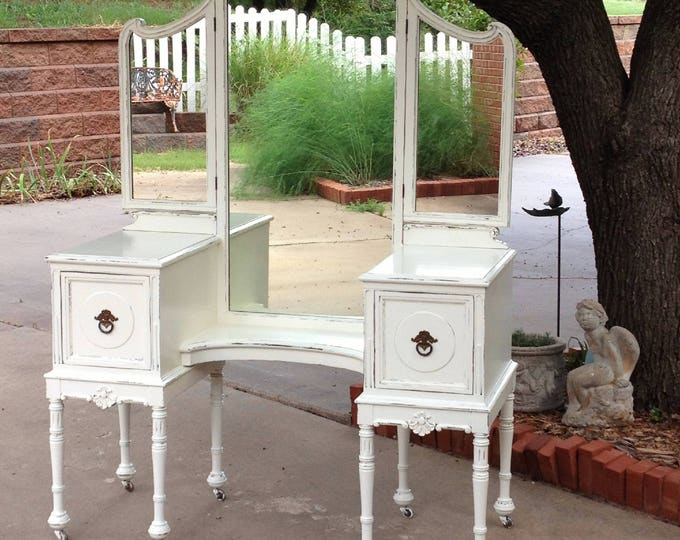 CUSTOM Painted VANITY Any Color! Order An Antique Makeup Dressing Vanity We Find Fix & Beautify For You