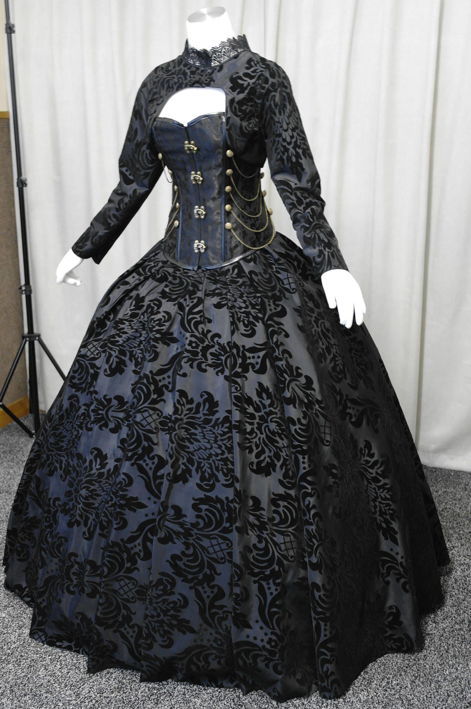 Gothic Hochzeitskleid Steampunk-Kleid viktorianisches