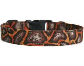 Giraffe Dog Collar / Custom Dog Collar / Martingale