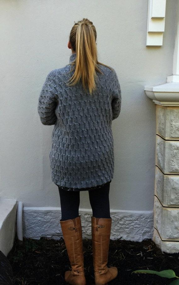 Autumn Leaves Cardigan Crochet Pattern for Women Open Style