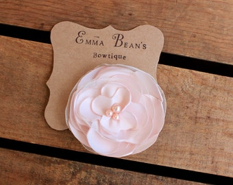 Wedding Hair Accessory/Bridal Blush Flower Hair Clip/ Women- Girl- Toddler Hair Clip/ Flower with Pearls Hair Clip/ Hair Flower Accessories