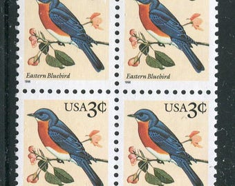 Blue Bird  Stamps  /10 Unused Postage Stamps/Eastern Blue Bird Issue