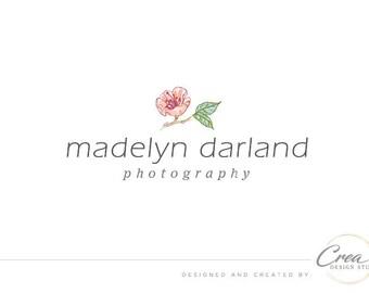 Cherry blossom logo, Photography logo design, Business logo, Hand-drawn flower logo, Watermark, Business watermark #600