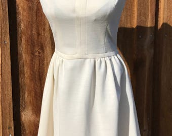 White Jersey Dressy Dress by Jonathan Logan from the '60s