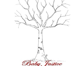 Gender Reveal Thumbprint Tree Personalized (You Print)