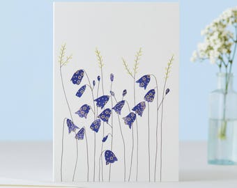 Harebells And Grass Card