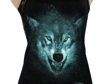 Lady tank top Backfree Wolf print