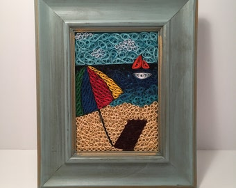 SALE - Beach Paper Quilled Mosaic