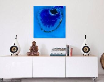 Wall Art Print, Ocean and Reef Inspired, Blue, Ultramarine Water Art, Poster Print, Home Decor