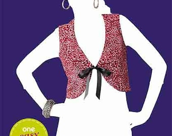 OOP Misses Front Tie Vest Bolero So Easy Sew Simple Simplicity 1829 Womens Sewing Pattern Plus and Average Sizes 8-18 UNCUT