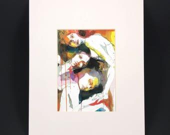 """Fine Art Print """"Txismosas"""" - 18x13cm - comes on 30x24cm Passpartout"""