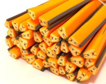 X 10 canes polymer clay pumpkin 5mm ❤ ❤
