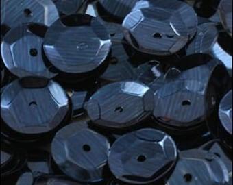 Metallic Navy Blue Cupped Sequins 8mm - JR02748