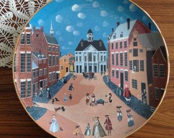 "Vintage Ridgewood ""Old New York"" Colonial Heritage Series collectors plate"