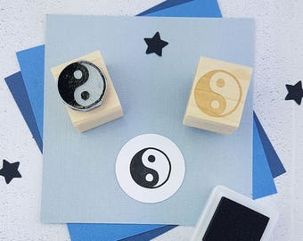 Yin Yang Stamp - Mini Yin Yang Rubber Stamp - Peace stamp - Yoga Gift - Hippy Symbol - Chinese Stamp - Peace Love - Hippy Boho Present