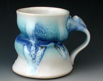 Steinzeug Kaffee Tasse #11 - Keramik Kaffeebecher - Kaffeetasse - Keramik Kaffeebecher - Steinzeug-Becher - handgemachte Becher - große - Ton Becher